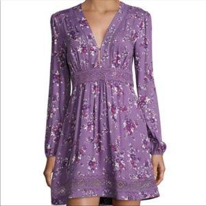 WAYF Lavendar floral dress